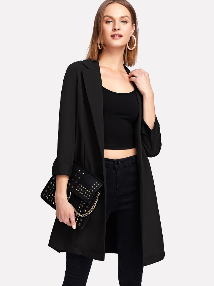 Elegant women Shawl Collar Black Blazer