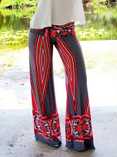 Pretty Printed Wide Leg Long Pant