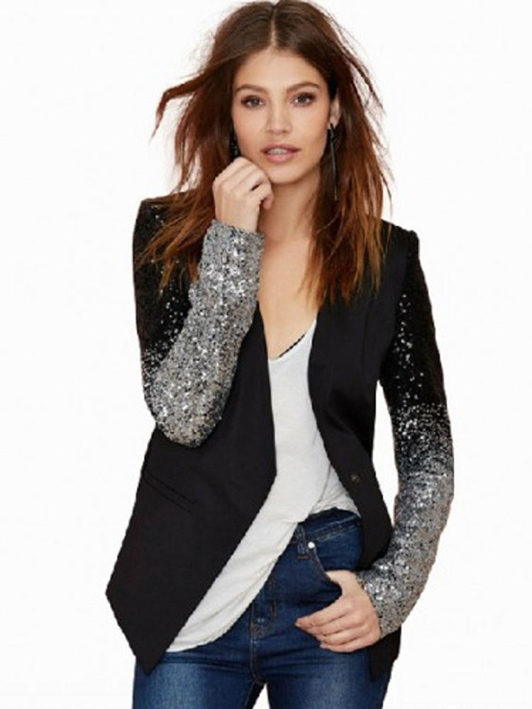 Plus Size Suit Sequin Suit Blazer