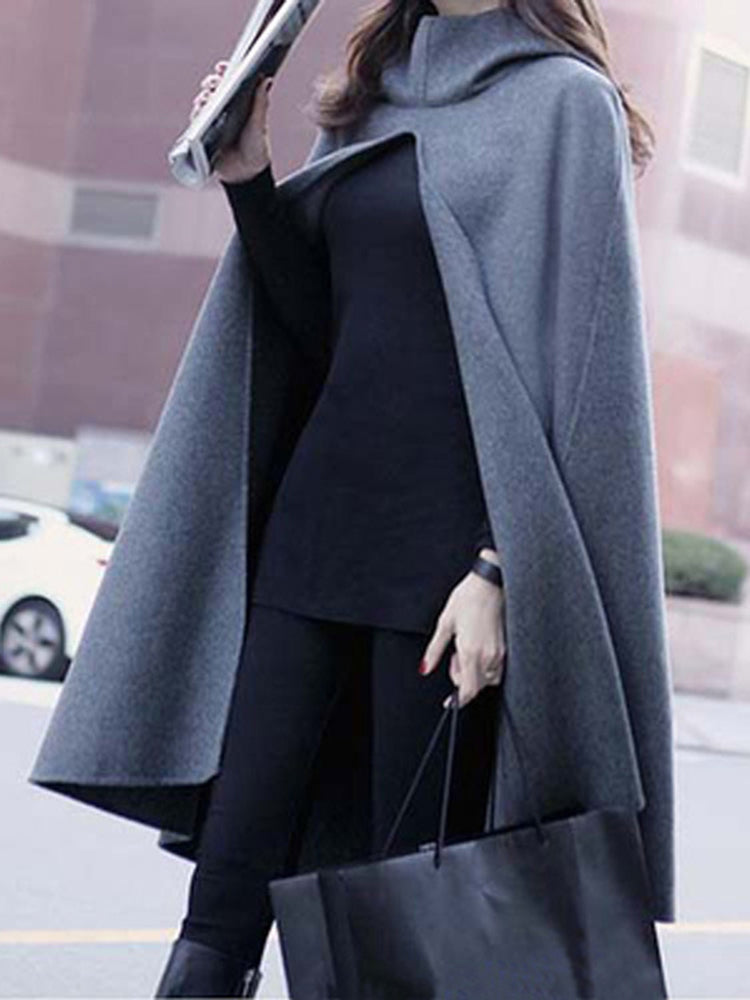Shawl Hooded Cloak Windbreaker Cape