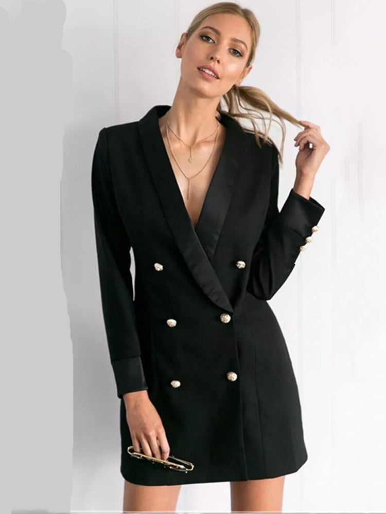 Double Breasted Commuter Suit Jacket
