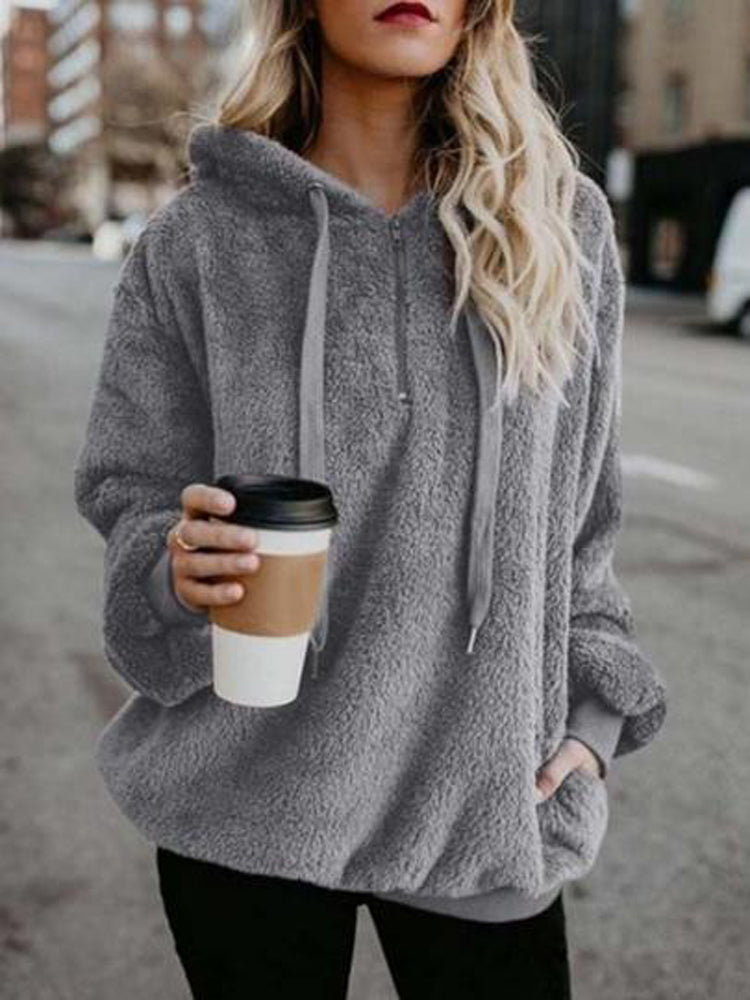 2018 New Vogue Winter Women hooded pullovers sweater