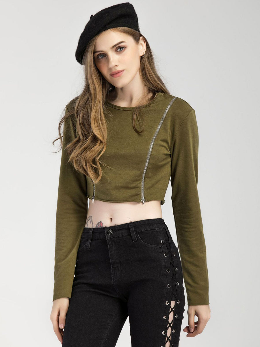 Embroidered Dew Nnavel Sweatshirt - sparshine