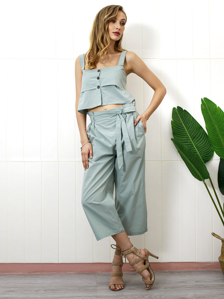 Vintage Sling Bow Pants Sets