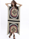 Nepali Printed Women Bat-Sleeved Bohemia Dress