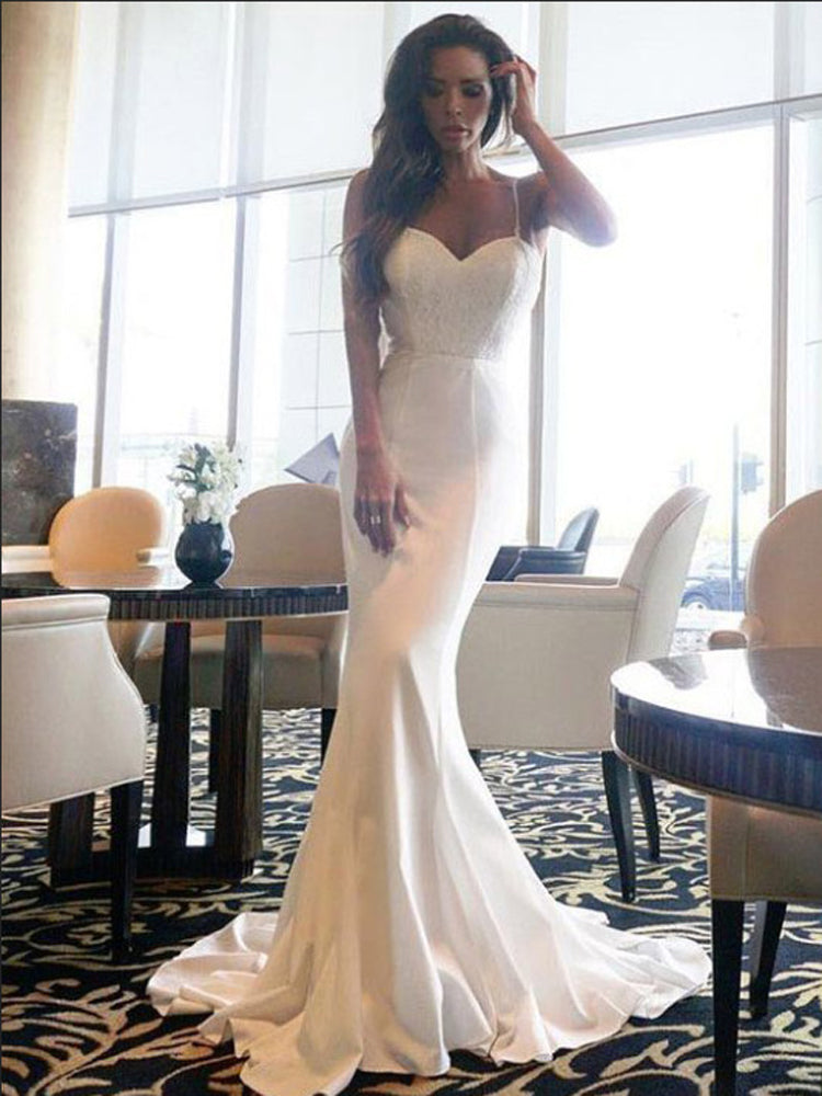 Sexy V-neck sling lace long formal dress