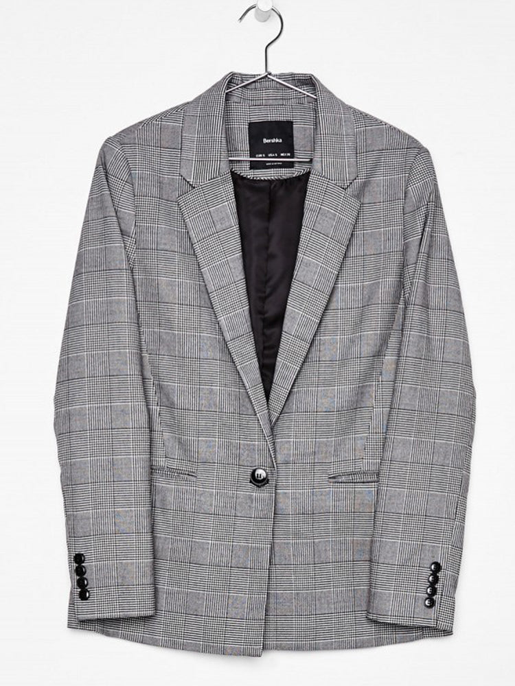 Suit Casual Loose Plaid Suit Blazer