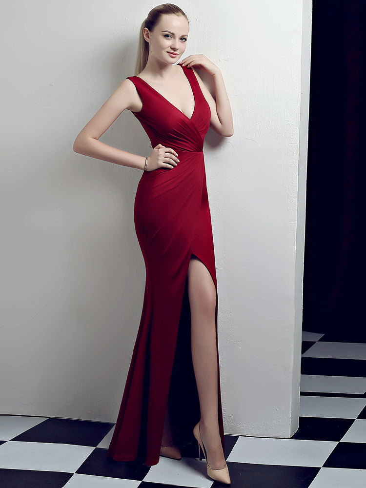 Fancy Long Fishtail Sexy Formal Dress