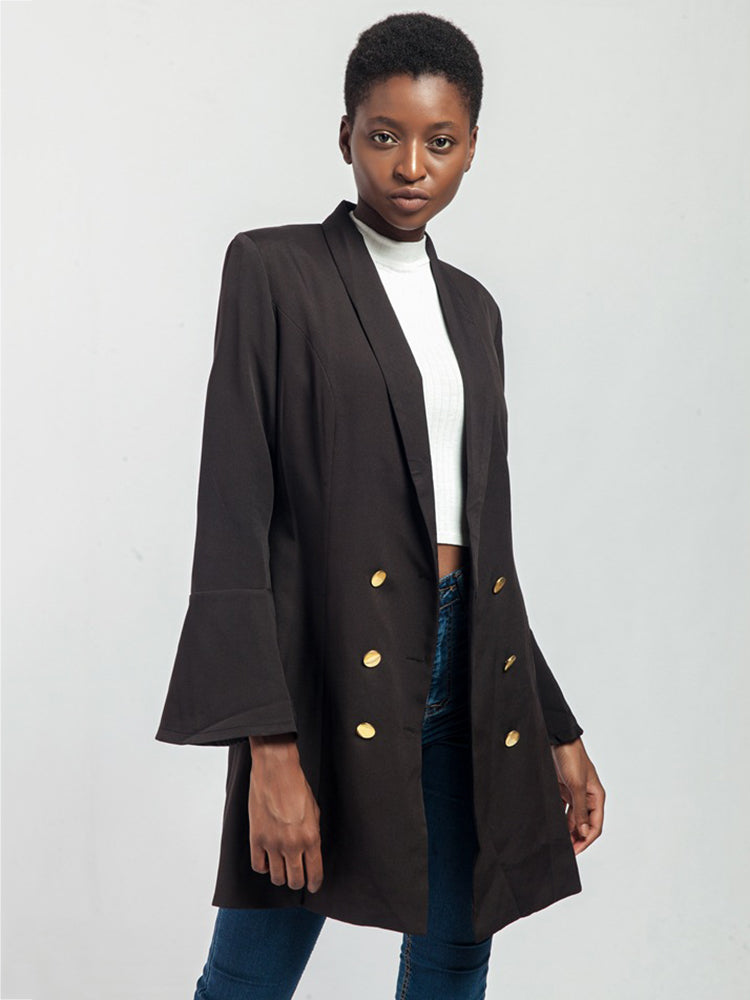 Nine Point Sleeve Long Blazer