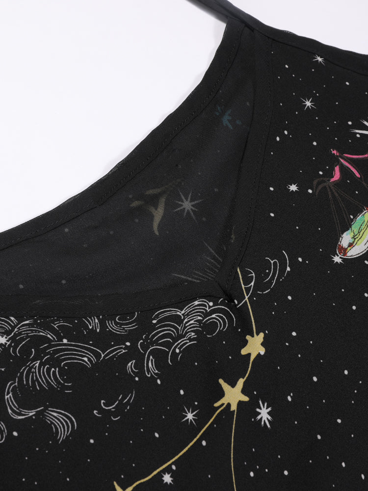 Constellation Print Strip Sleeveless Camis - sparshine