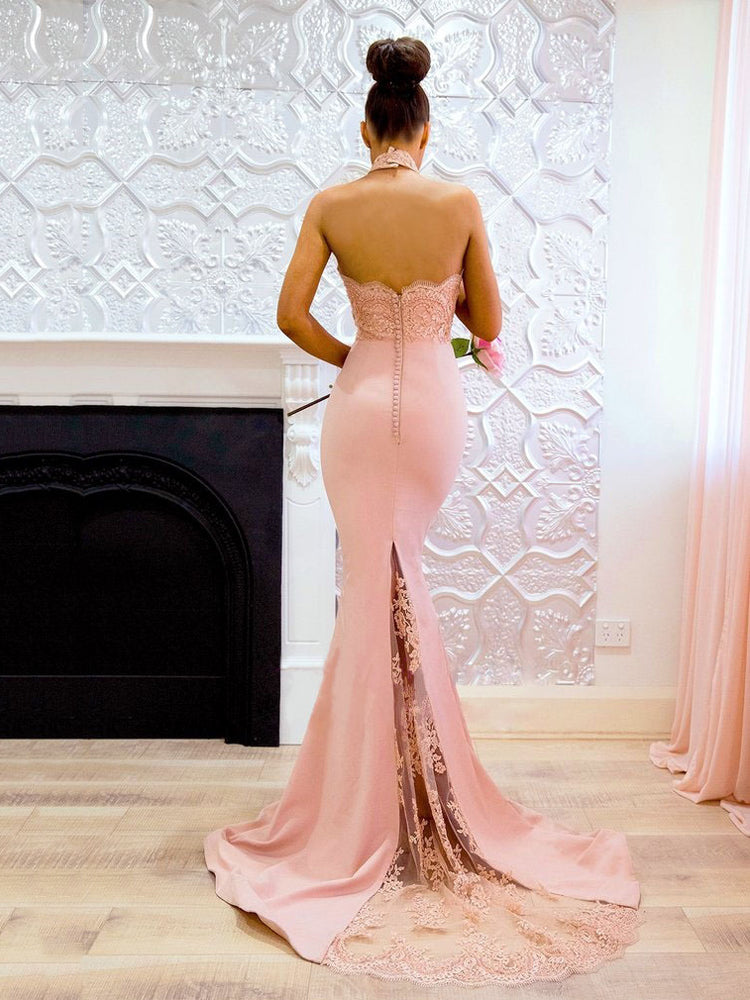 Pink Bodycon Evening Formal Dress