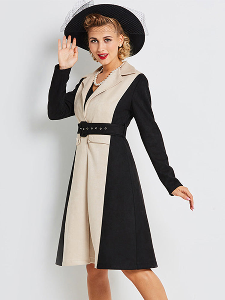 Black With Belt Slim Trench Coat