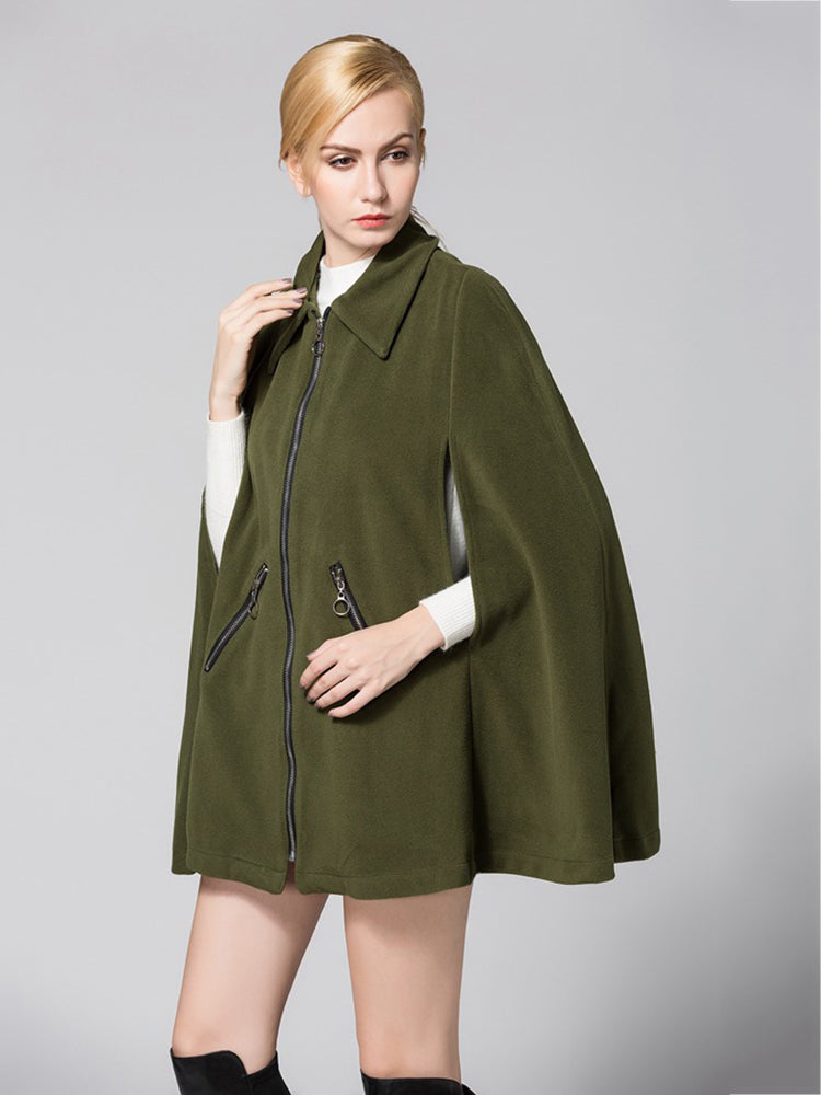 Large Pocket Zip Cape