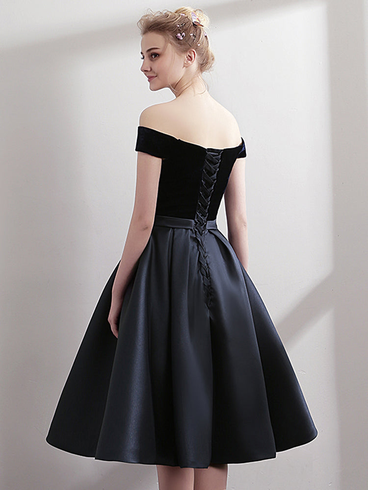 Elegant women Off Shoulder Evening Formal Dress