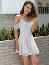 Sling Strapless Ruffled A-line Dress