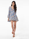 Bohemian Vintage Printed Lace Bell Sleeve Dress - sparshine