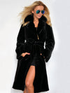 Plain Faux Fur With Hooded Down Coat