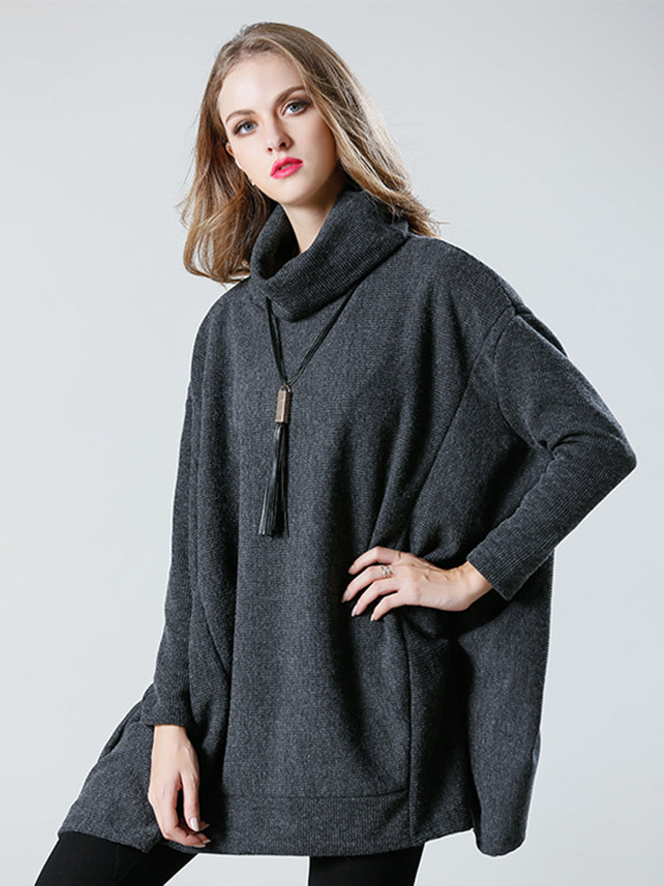 Plus Size High Neck Cape