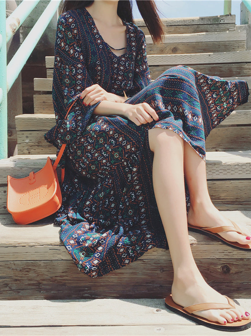 Bohemian Holiday Beach Dress - sparshine