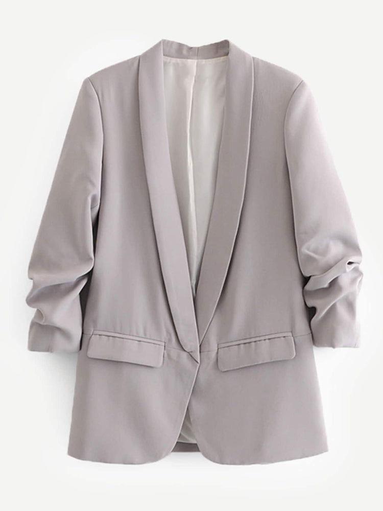 Fashion Women'Shawl Collar Tailored Coat