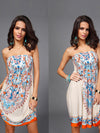Floral Off Shoulder Loose Fashion Dresses