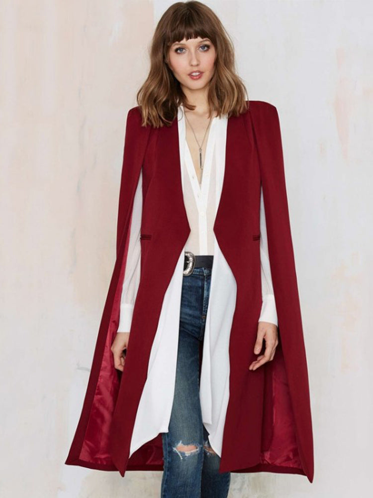 Casual Cloak Free Shawl Trench Coat