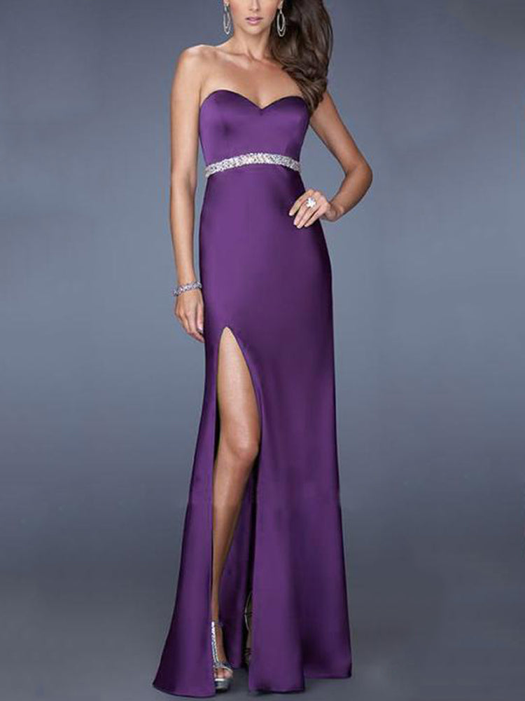 Fancy Sexy Wrapped Split Formal Dress