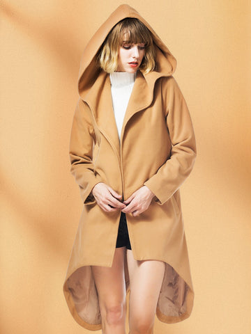Double Breasted Woolen Trench Coat