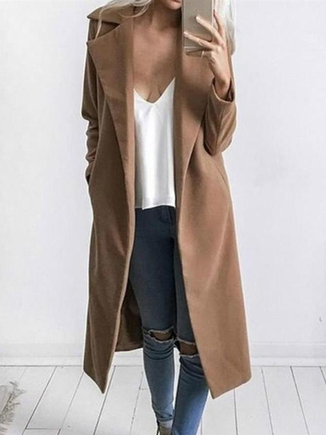 Plain With Pocket Trench Coat