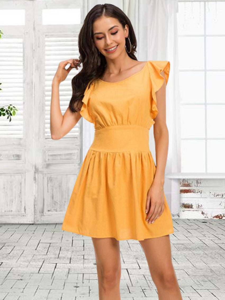 Bow-Knot Back Sleeveless Dresses - sparshine