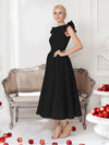 Fancy Round Neck Sleeveless Formal Dress