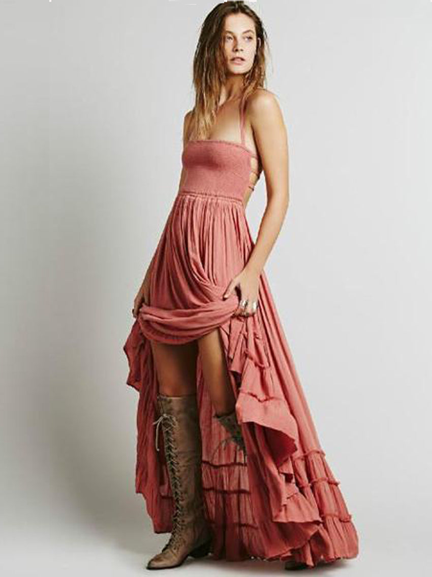 Bohemian Sexy off back Beach Dress - sparshine