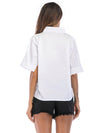 White Elegant Shirt Work Wear Office T-shirt