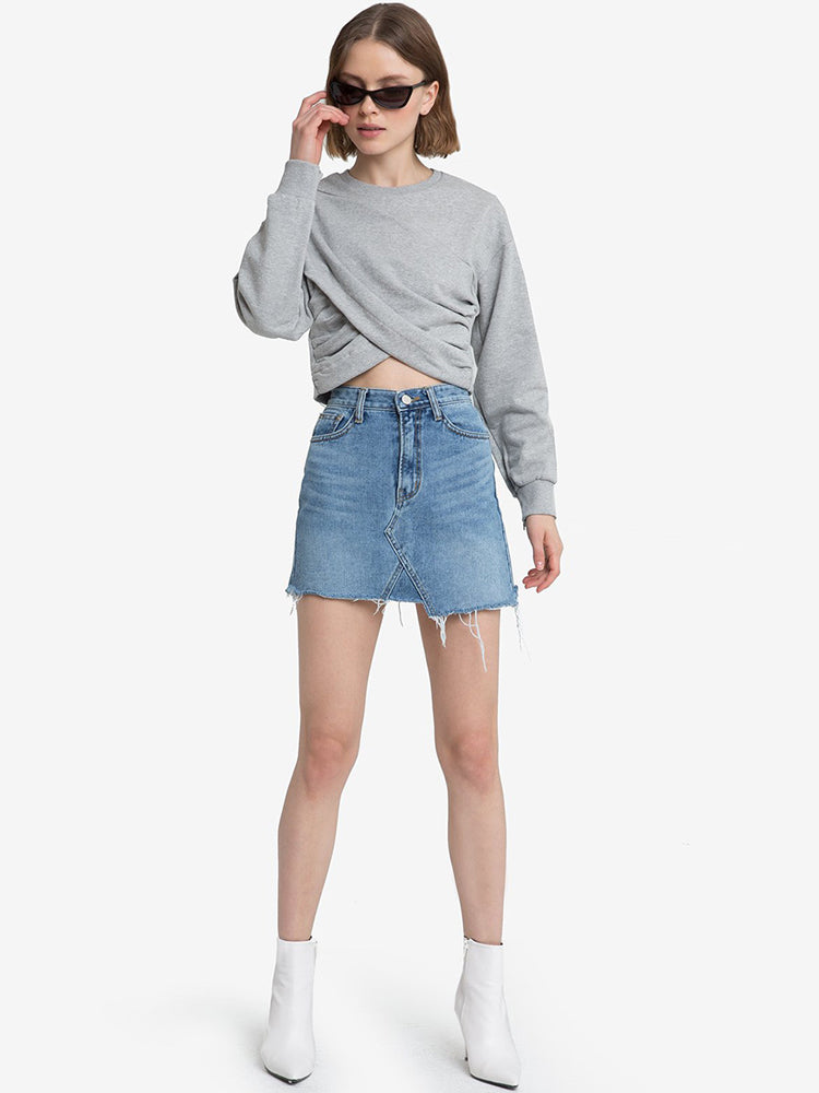 Long Sleeved Short Sweatershirt