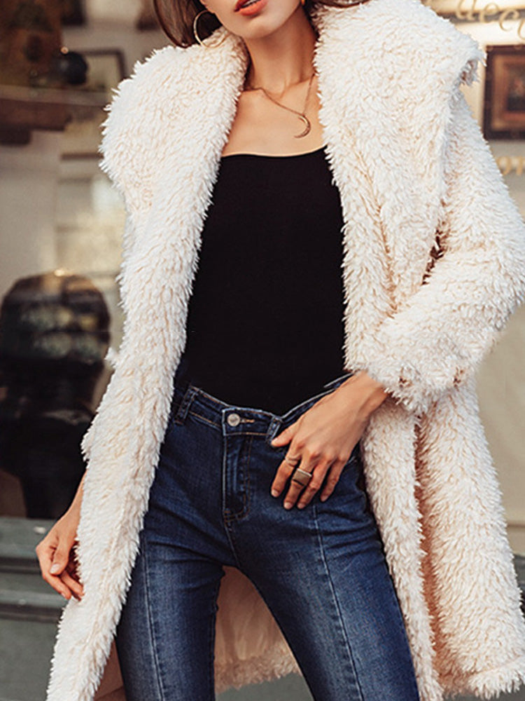 Trendy clothes for women fur trench coats for women