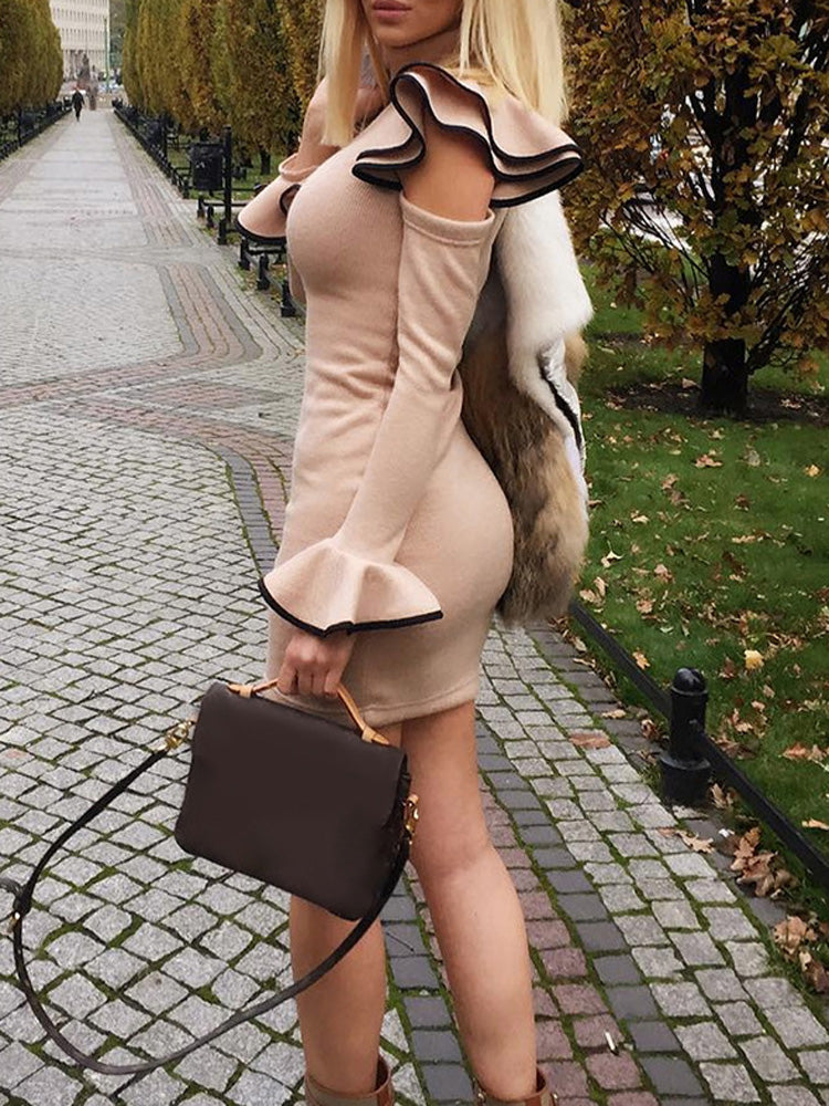 Trendy clothes for women knit sweater dress