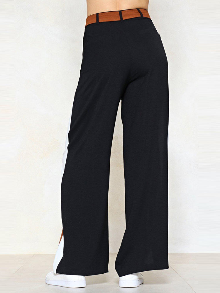 Stitching Loose Oversized Wide Leg Pants