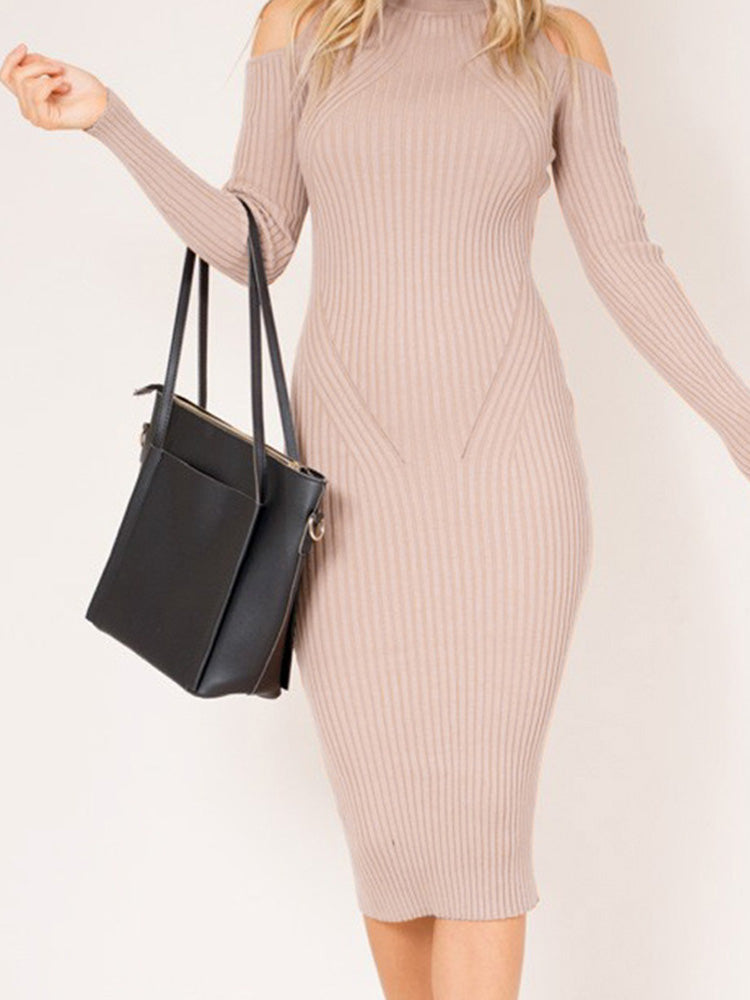 Fashion women' clothingPink sweater dress