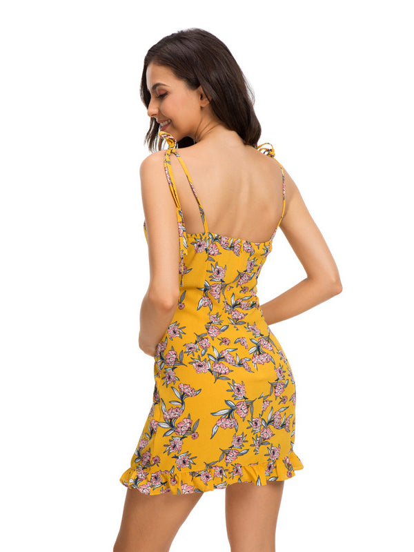 Sexy Backless Sling Dress