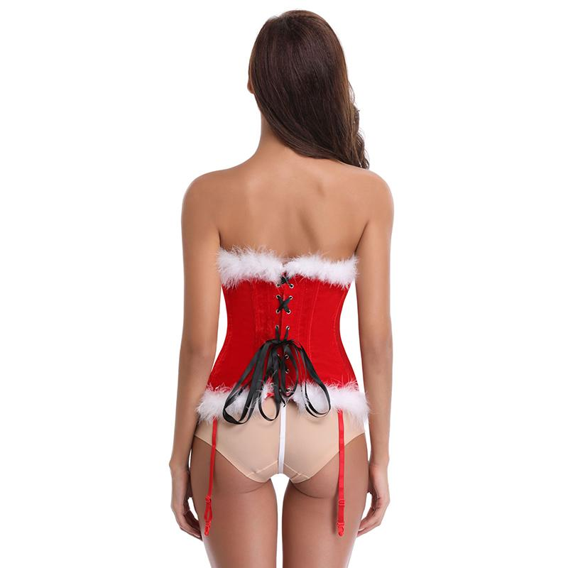 Newest Christmas Sexy Raw Overbust Corsets