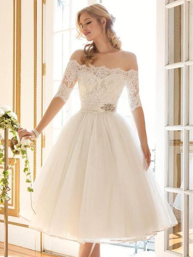 Girlish Sweetness Off Shoulder Evening Dress