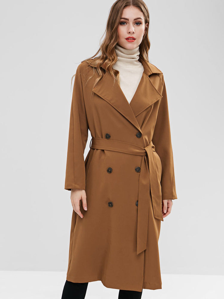 Fashion women' double-breasted trench coat