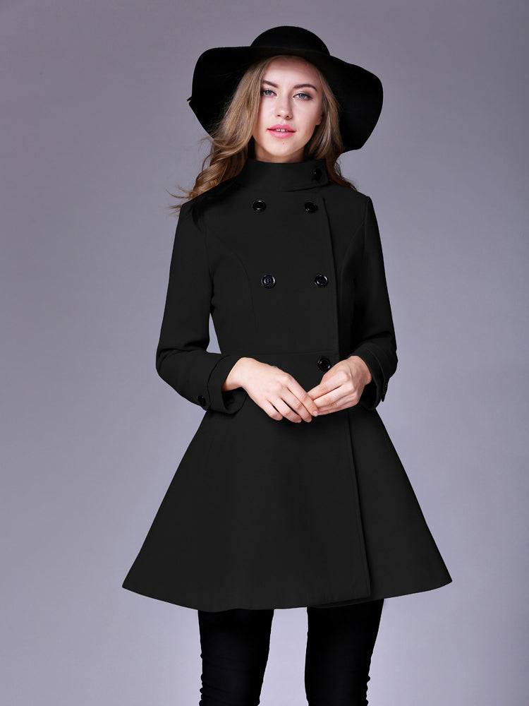 Slim Double Breasted Trench Coat