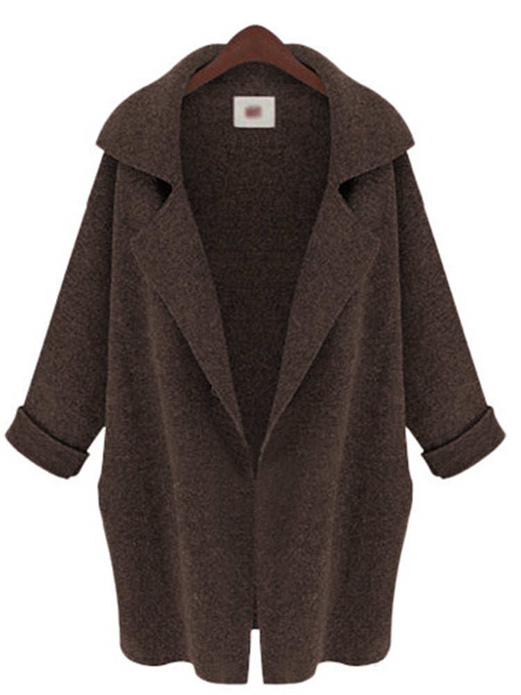 Lapel Neck Single Breasted Coat