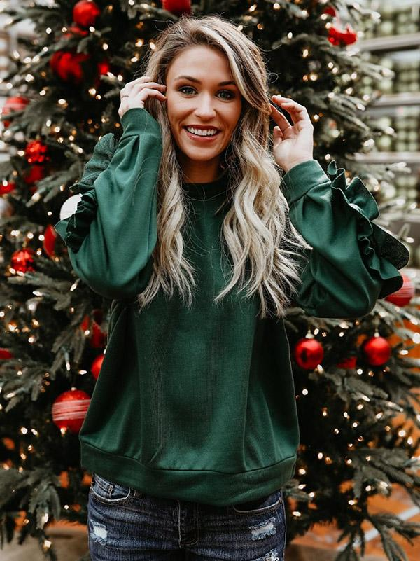 Solid Color Hoodies sweater Tops