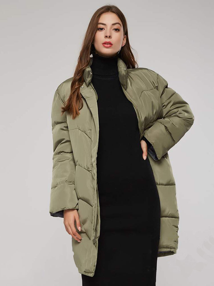 Block Plain With Pocket Down Coat
