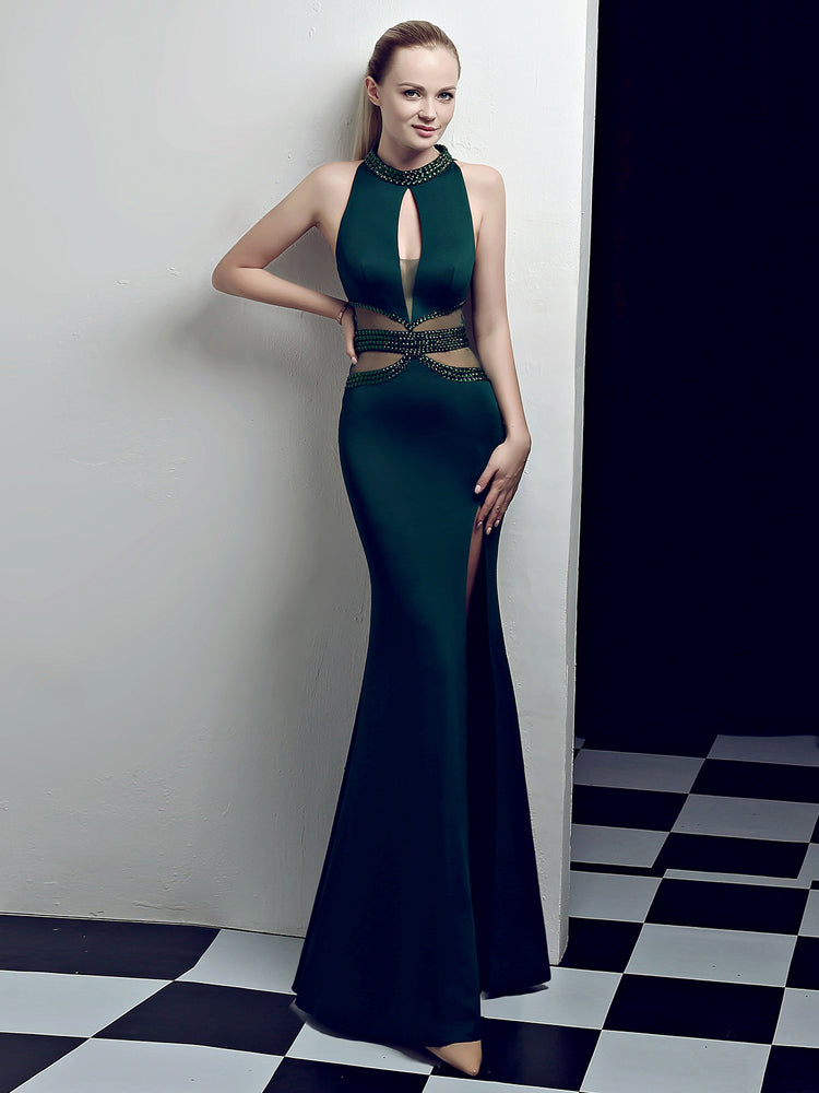Fancy Sexy Deep V Slim Formal Dress