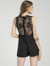 High Quality Sexy Black Lace Jumpsuit