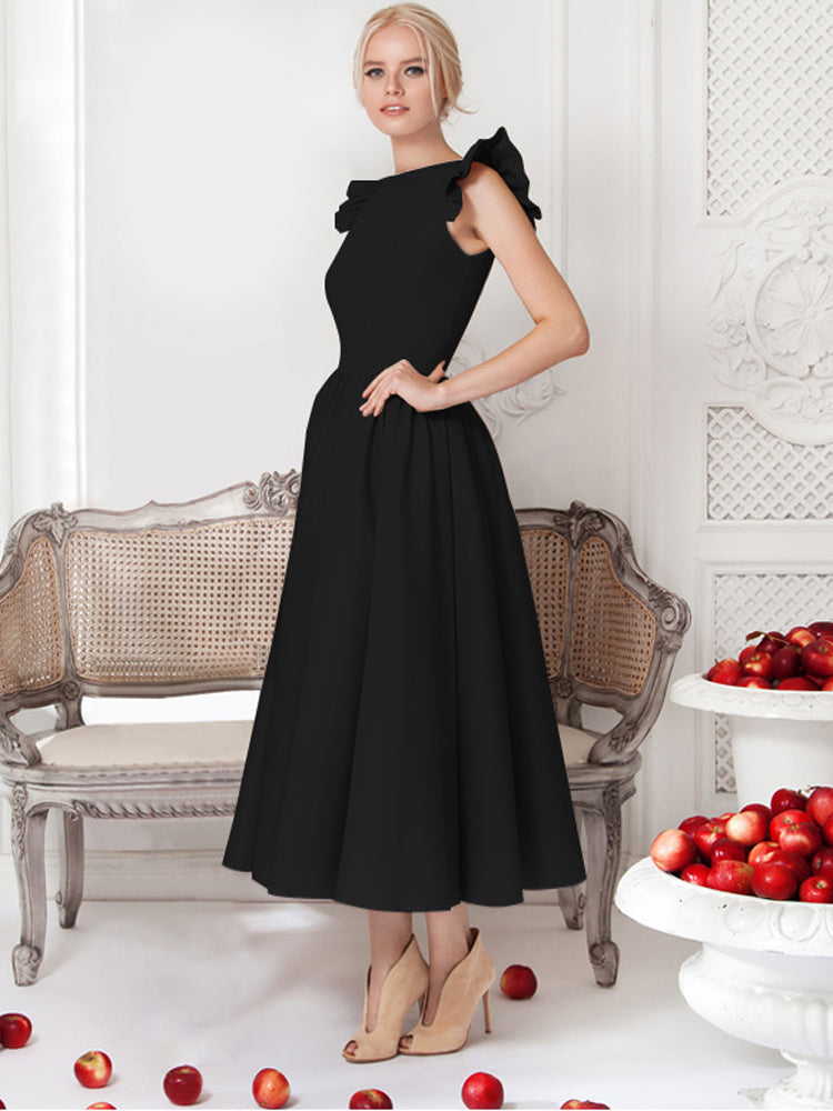 High-end round neck sleeveless formal dress