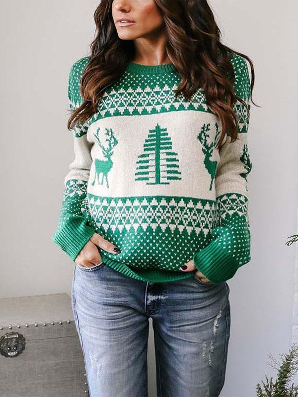 Autumn Knitted Warm Pullover Christmas Sweater